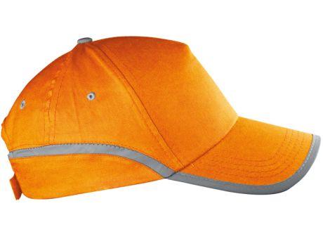 Baseballcap-orange mit Werbung bedrucken