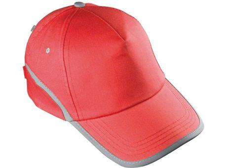 Baseballcap-rot mit Firmenslogan bedrucken