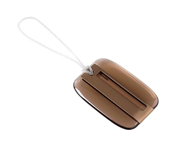 Kofferanhänger können Sie als Promotionartikel auf Veranstaltungen an Kunden rausgeben