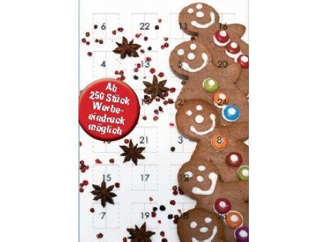 Adventskalender Schokolade mit Werbung als Werbeartikel